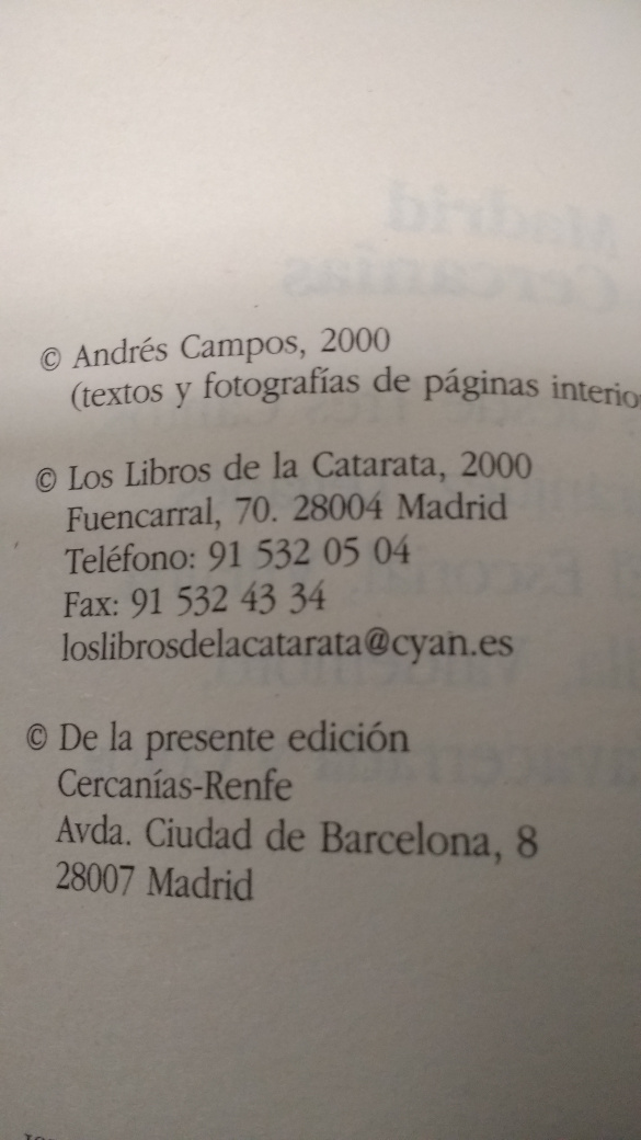 Madrid en Cercanías (ISBN)